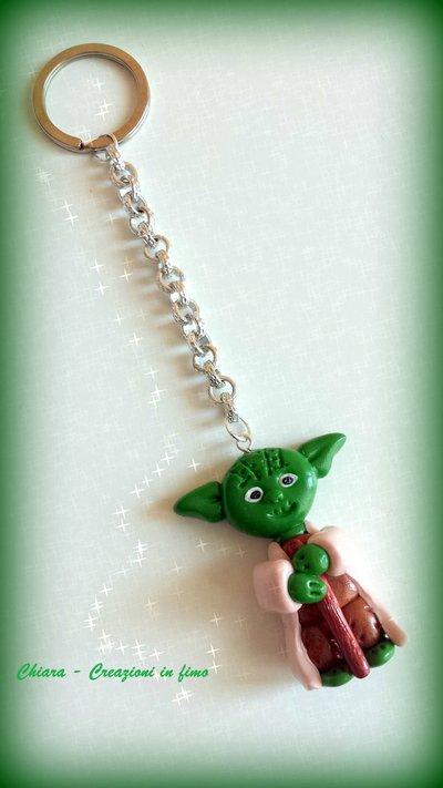 Portachiavi in fimo handmade Yoda miniature Star Wars idee regalo festa del papà