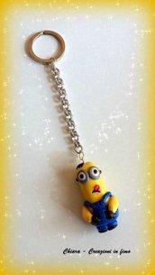 Portachiavi in fimo handmade Minions miniature idee regalo festa del papà