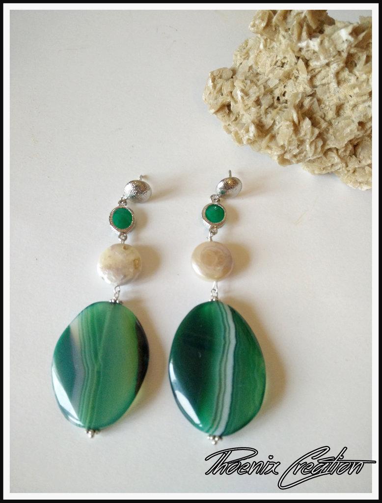 Orecchini elegant green