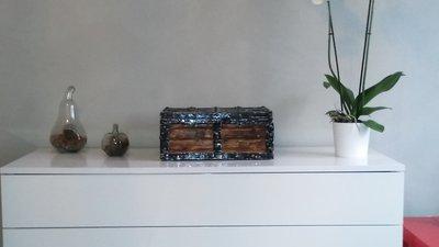 casa baule Bauletto artigianale in legno trattato a fuoco fatto a mano