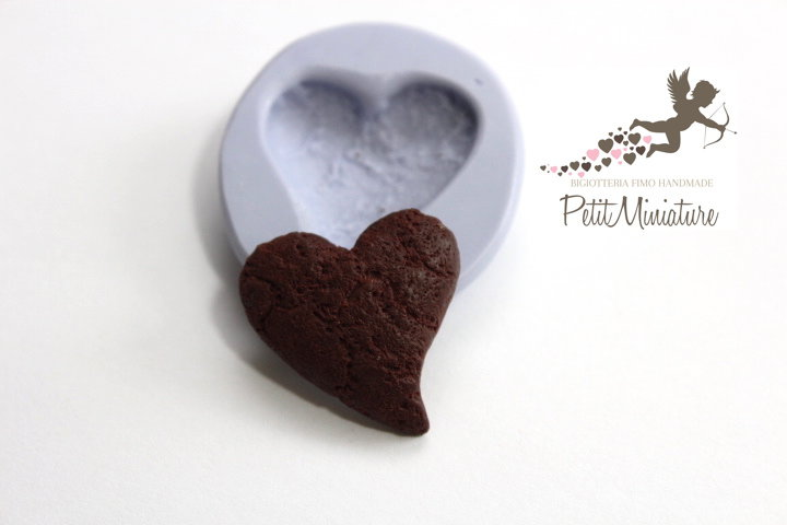 Stampo Silicone Biscotto 1 Stampo 2cm-Stampo Gioielli Fimo kawaii-Stampo per Fimo Resina Cera Gesso pasta di zucchero ST256