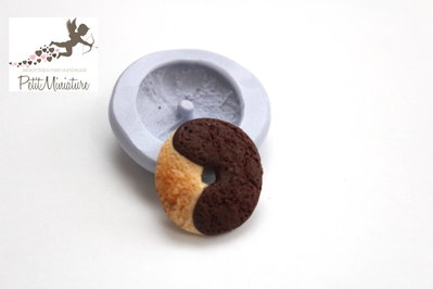 Stampo Silicone Biscotto 1 Stampo 2cm-Stampo Gioielli Fimo kawaii-Stampo per Fimo Resina Cera Gesso pasta di zucchero ST268