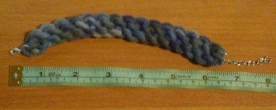 Braccialetto colorato 3d cotone blu celeste fatto a mano originale