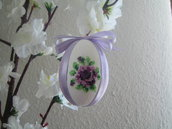Uovo di pasqua con la rosa