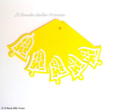 "SET 5 TAG CHIUDIPACCO SEGNAPOSTO ""EASTER BELL"" (art.80)"