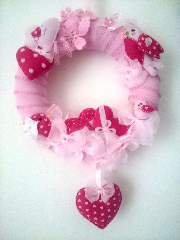 Fiocco nascita rosa