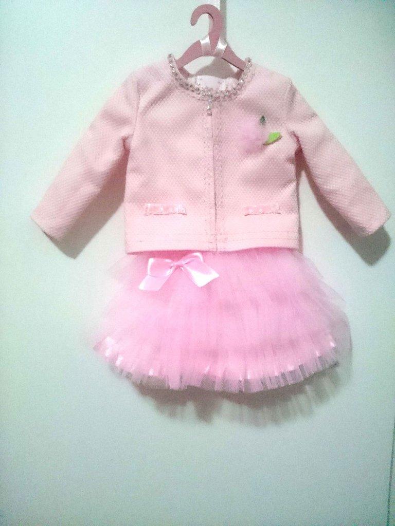Modellino abito rosa