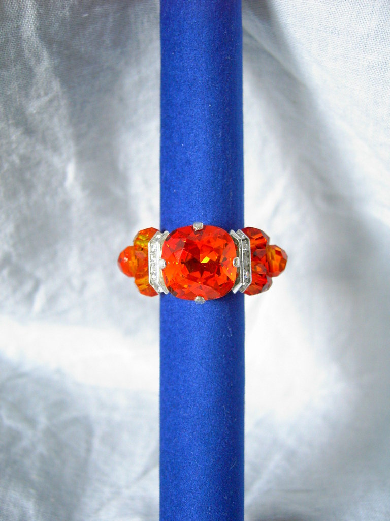 Anello cabochon arancione