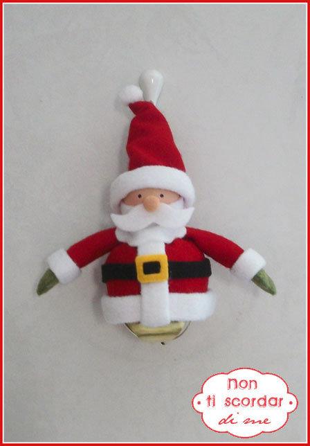 Addobbo Babbo Natale con campana