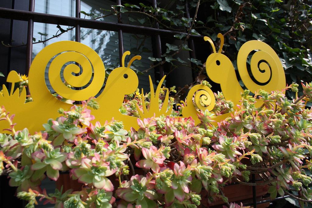 TRIBù DI CHIOCCIOLE 3D - Bordura per giardino