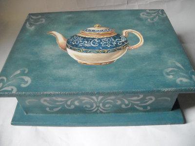 Raffinata scatola  contenitore porta bustine tè o tisane