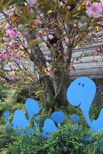 Famiglia di tartarughe 3d bordura per giardino per la for Giardino 3d