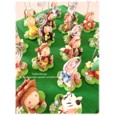 Per il piccolo Matteo- bimbi animali-piedini e cake topper bimbo panda