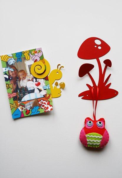 FUNGHI 3D - Simpatiche decorazioni Hook