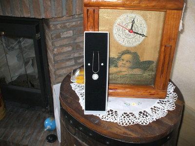 collana di swarovski piu orecchini di swarovski tutto in arg.925