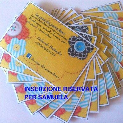 Inserzione riservata per SAMUELA