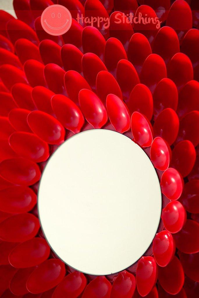 Specchio rosso e nero