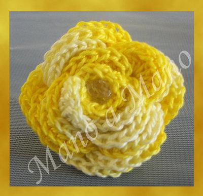 Anello fiorelloso - giallo