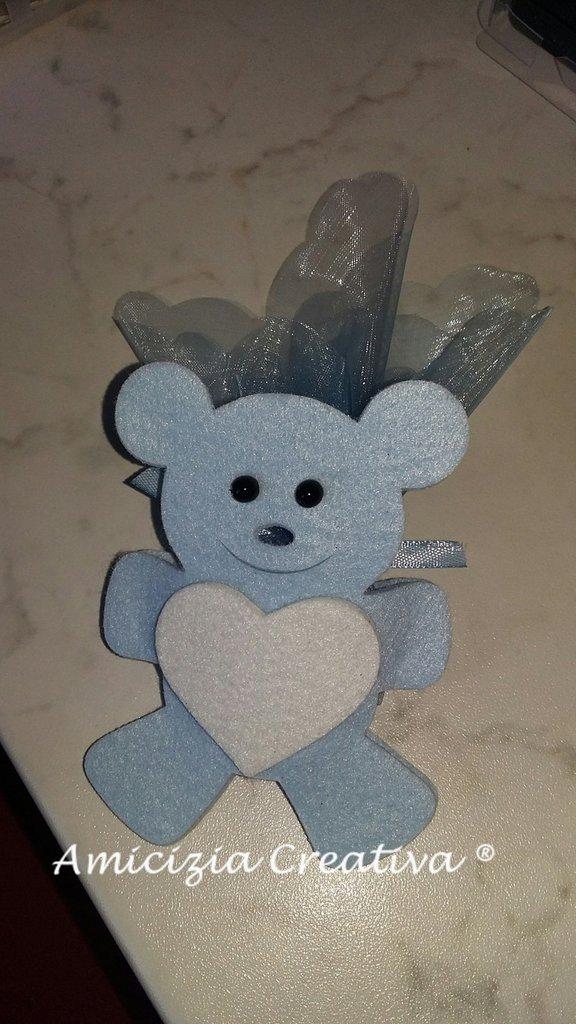 Porta confetti orsetto