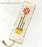 Segnalibro ricamato - segnalibro a punto croce - Segnalibro con fiori - bookmark