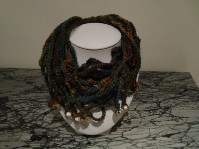 green necklace - scarf