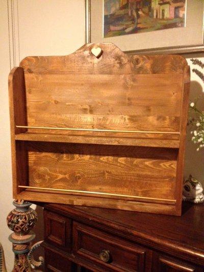 Porta spezie in legno massello