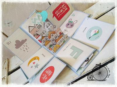 "Mini album in scatola, explosion box ""Adventure"""