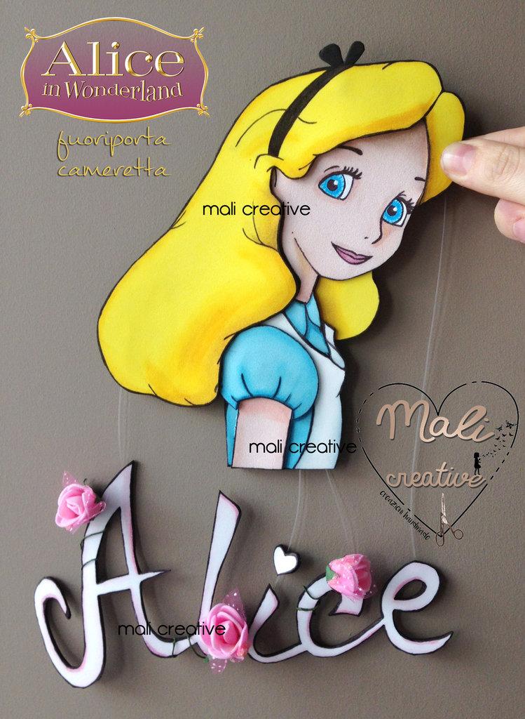 Fuoriporta tema Alice nel paese delle meraviglie