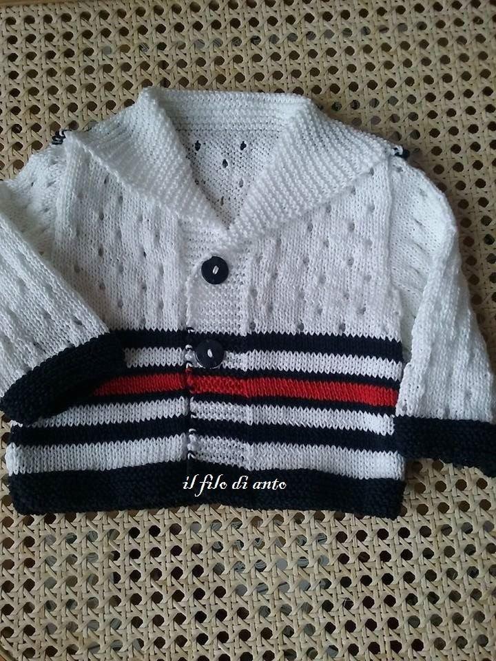 newest collection 58fc1 76151 Giacchino / cardigan marinaretto in cotone