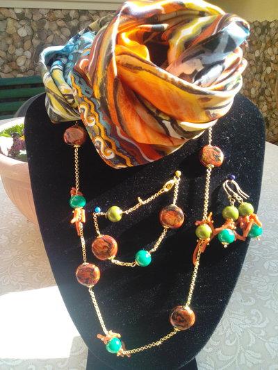 Foulard, seta, gioielli