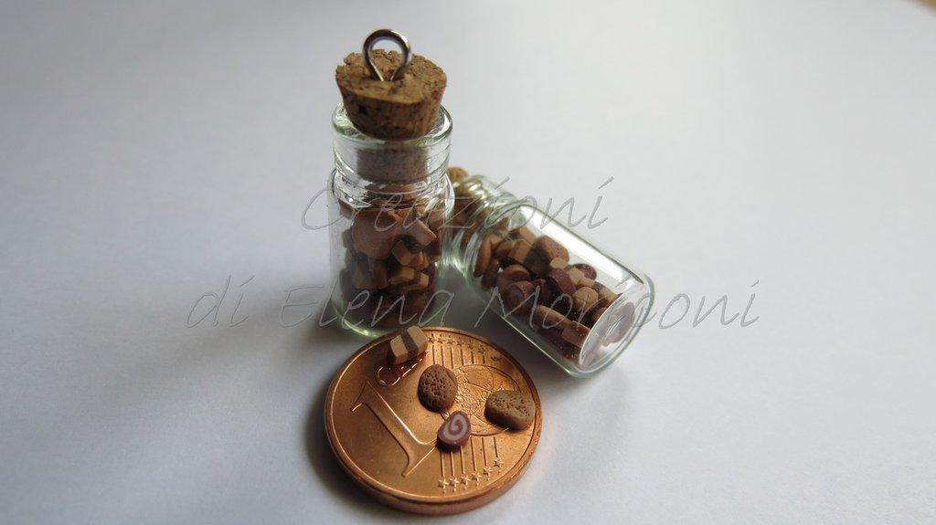 2 Minibottiglie in vetro