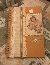 Quaderno/diario/agenda decorata a mano