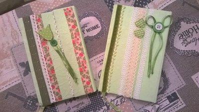 Agende/diari/quaderni decorati a mano