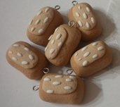 Lotto 10 ciondoli buondì in fimo handmade