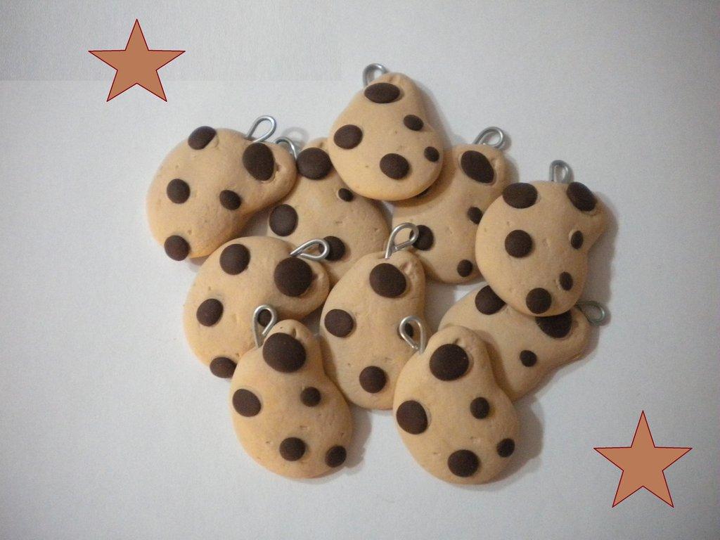 Lotto 10 ciondoli in fimo gocciole handmade