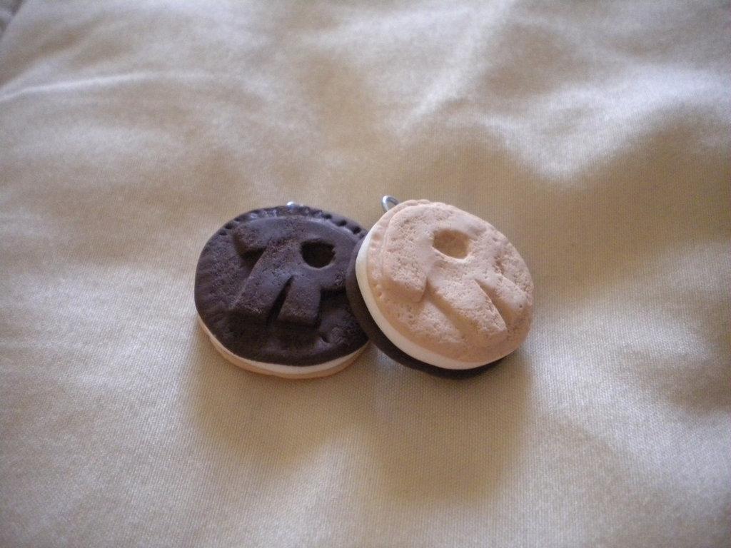 lotto ciondoli in fimo 5 ringo farciti handmade charms x orecchini e collane