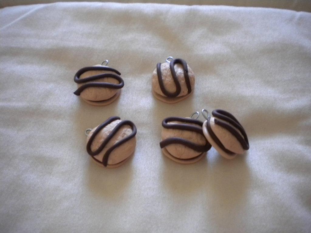 lotto ciondoli in fimo merenda yoyo handmade charms x orecchini e bracciali