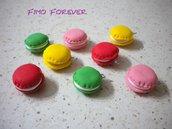 lotto 10 ciondoli fimo macarons handmade charms per orecchini e bracciali