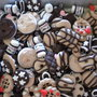 maxi lotto 100 ciondoli in fimo handmade charms x orecchini bracciali