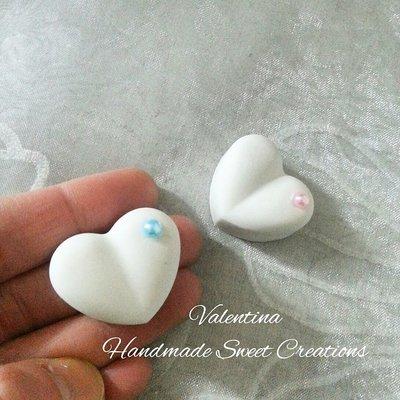 Gessetti cuori cuore cuoricini perlina celeste o rosa