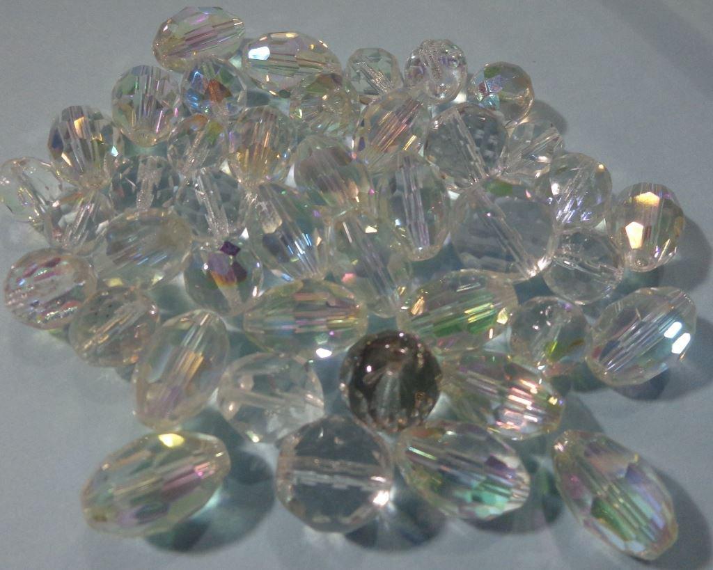 50% DI SCONTO - 42 Perline Cristalli di Vetro Sfaccettato