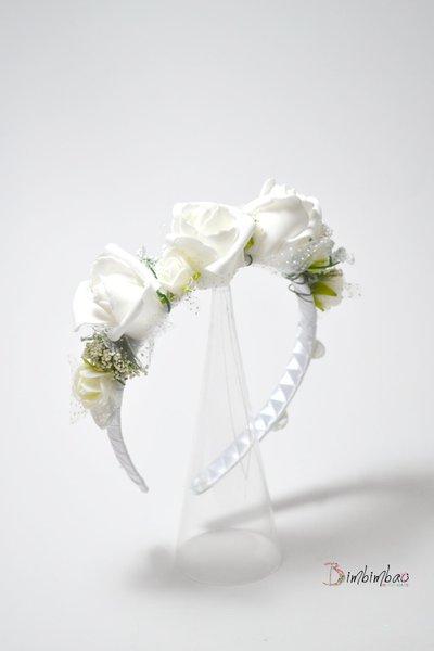 cerchietto cerimonia cerchiello corona coroncina comunione battesimo cresima occasione elegante damigella matrimonio capelli .
