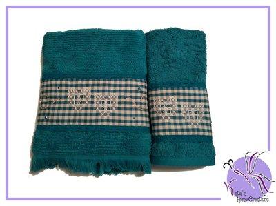 Set Asciugamani Ottanio Ricamati