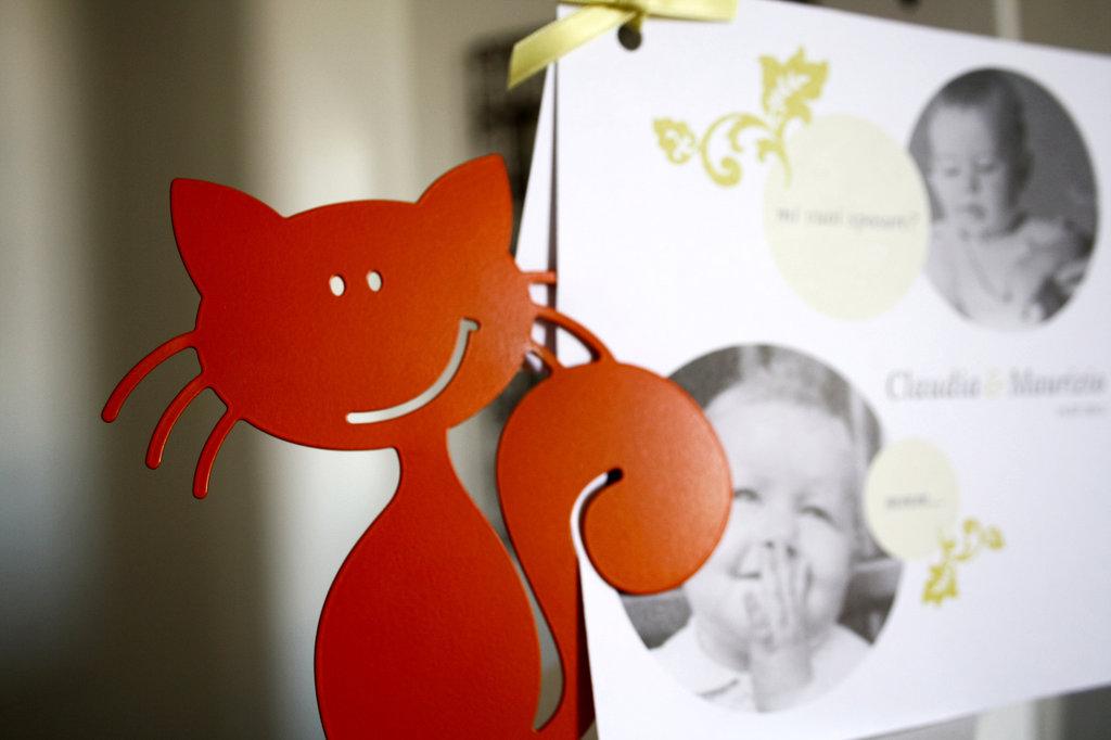 GATTO BABY 3D - Originale design Spikey. Decorazione d'arredo d'esterni e d'interni