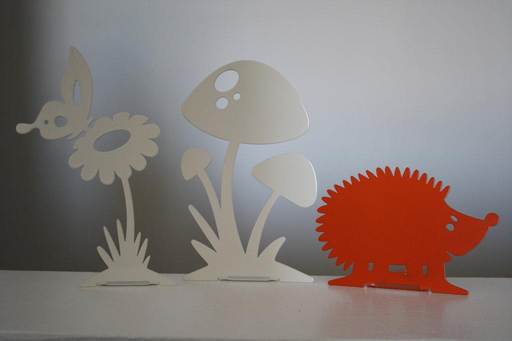 RICCIO BABY 3D - Originale design Spikey. Decorazione d'arredo d'esterni e d'interni