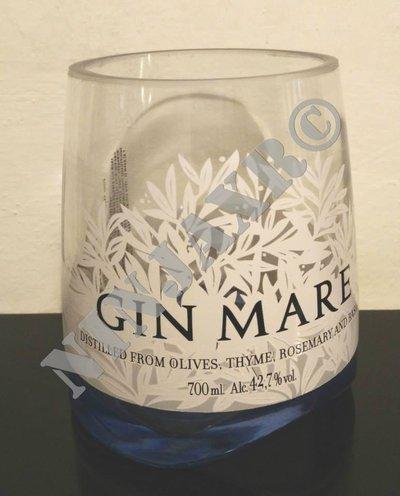 Vaso artigianale da arredo Bottiglia vuota Gin MARE riciclo creativo riuso idea regalo