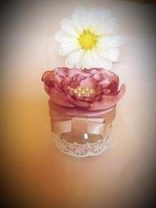Bomboniera vasetto con rosa