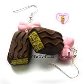 Orecchini Merendine al cioccolato - handmade miniature