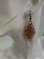 #orecchini #chainmail #color-bronzo