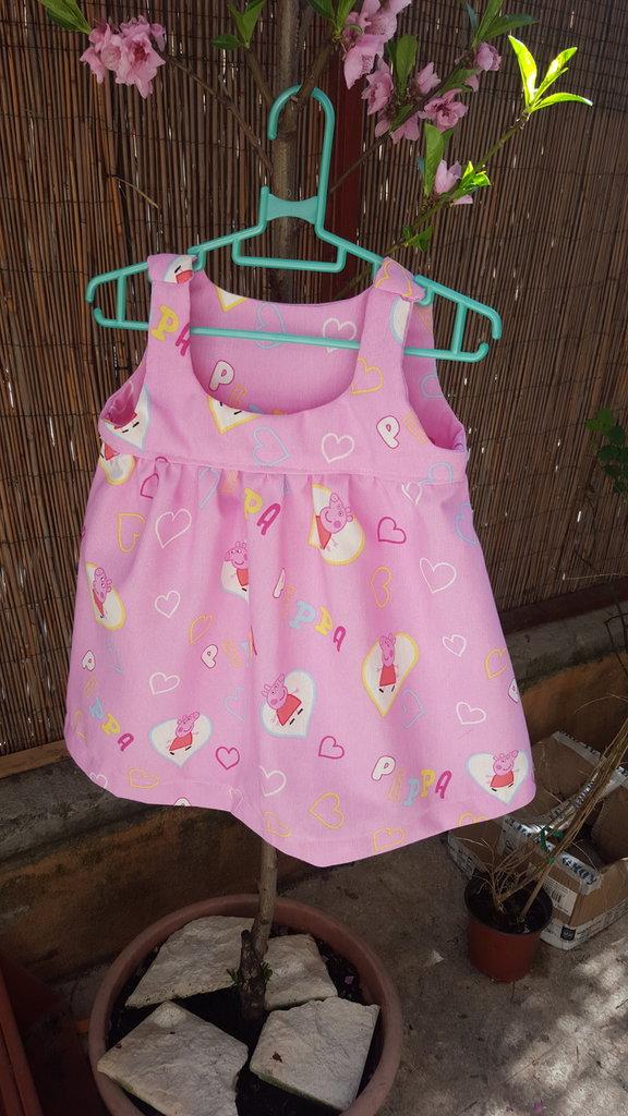 vestito  rosa peppa  pig